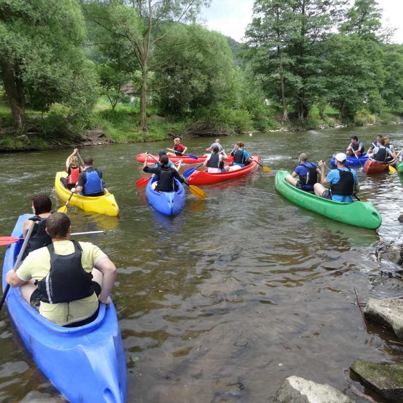 Team building in Bohemian Paradise - canoes
