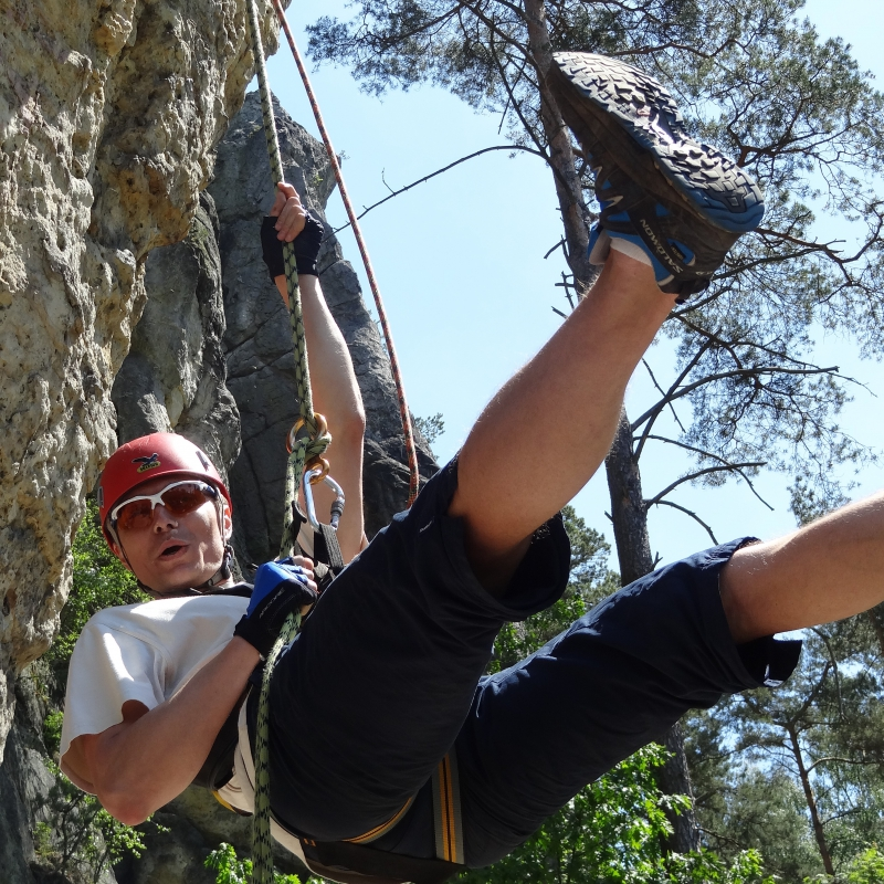 Team building in Bohemian Paradise - abseiling (optional)
