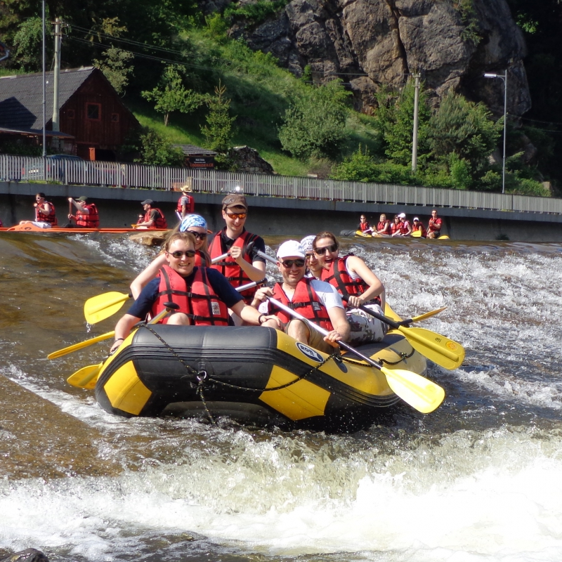 Team building in Bohemian Paradise - rafts