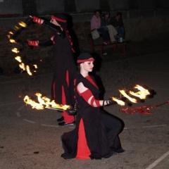 firemní večírek - scénický tanec s ohněm