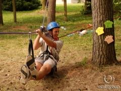 Teambuilding - nízké lanové překážky
