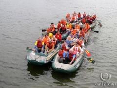 Teambuilding - příprava na sjezd řeky