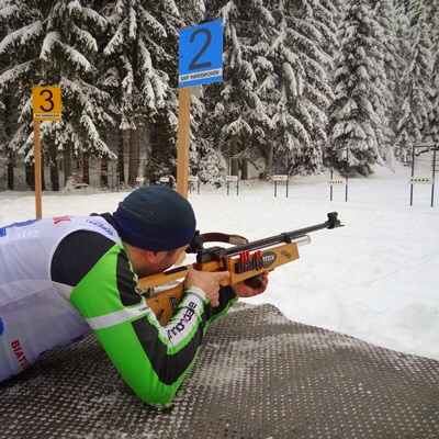 Zimní teambuilding - biatlon