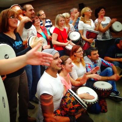 Korporátní bubnování teambuildingová aktivita